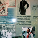 http://bookingsdominica.com. Story board seen in the admin station of Carib territories.