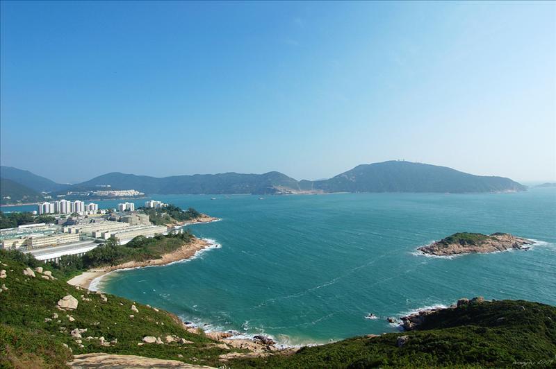 赤柱監獄、羅洲及鶴咀山  Stanley Prison, Lo Chau and D'aguilar Peak (Hok Tsui Shan)