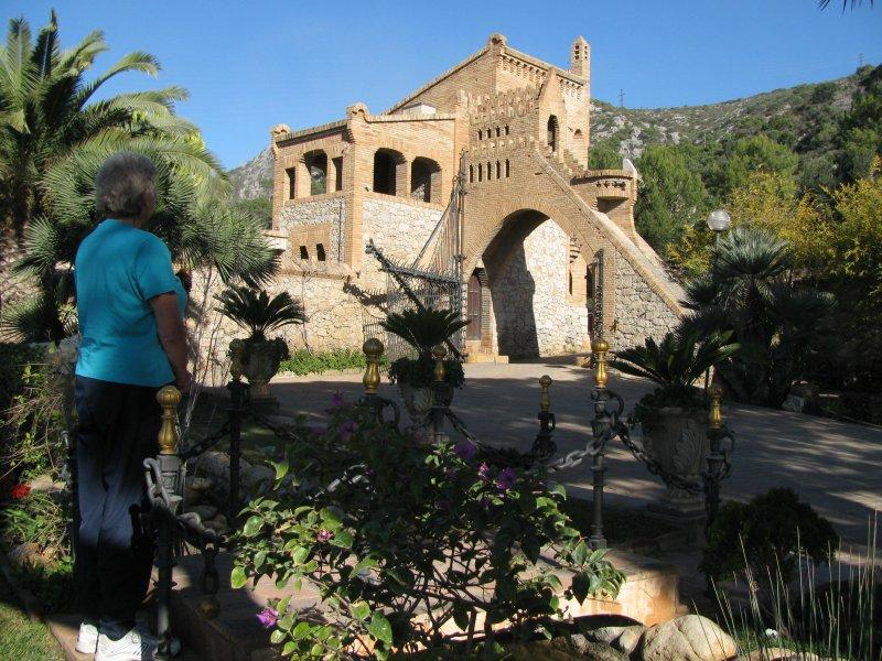 Gaudi's building in Garraf...
