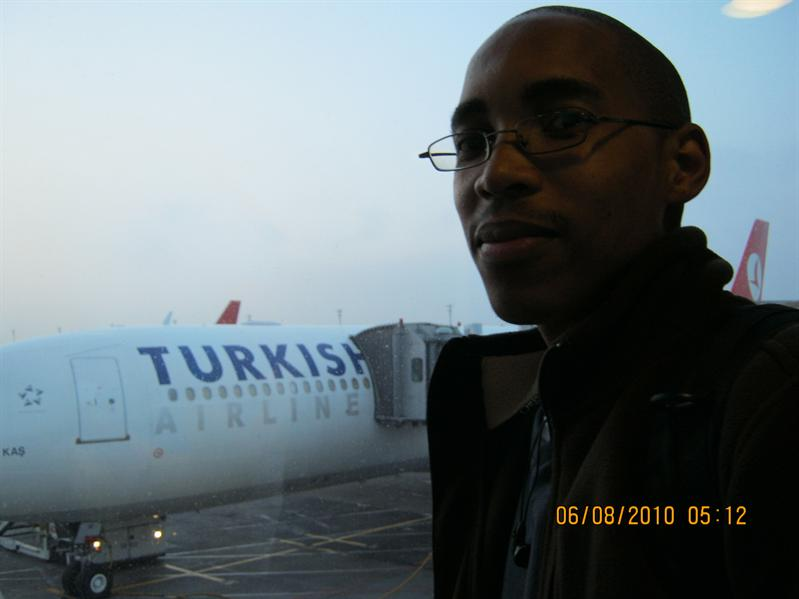 Getting off the airline at Istanbul..