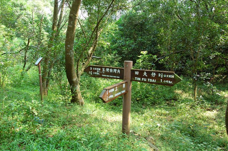 At the junction of Yuen Tsuen Ancient Trail出元荃古道