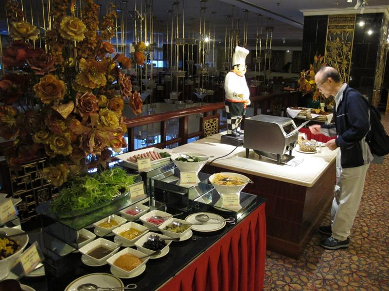 Breakfast buffet in the hotel