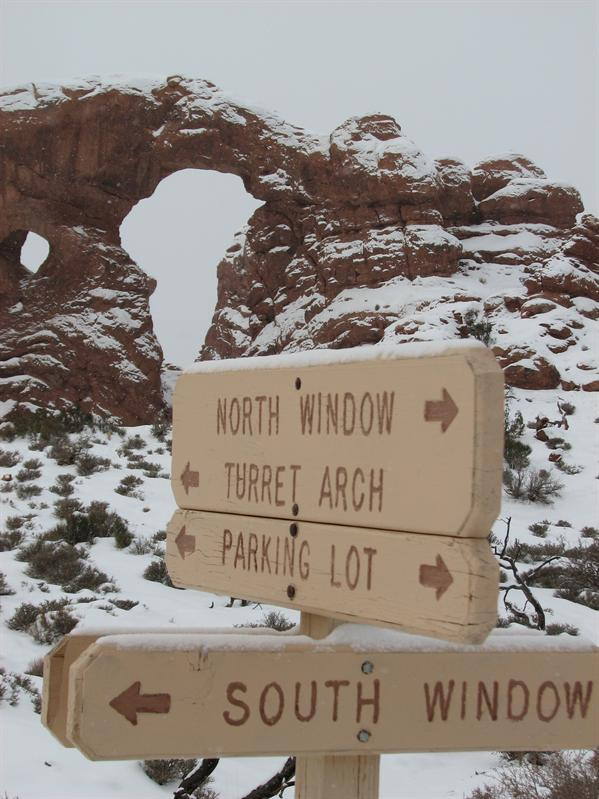 Turret Arch in the background