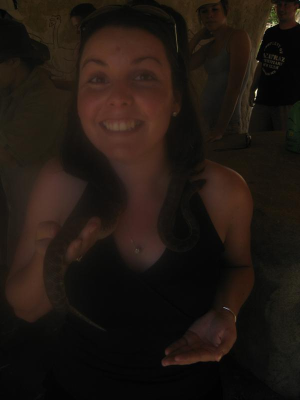 Me holding a python