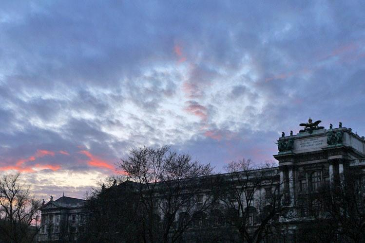Sunset in Vienna City.