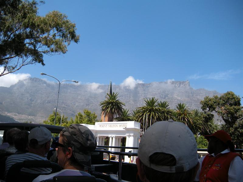 Cloud lingering at the top of Table Mountain