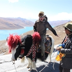Road to Lhasa 8.  Gyantse to  Lhasa via yamdrok Tso (Turquoise lake)   oct11