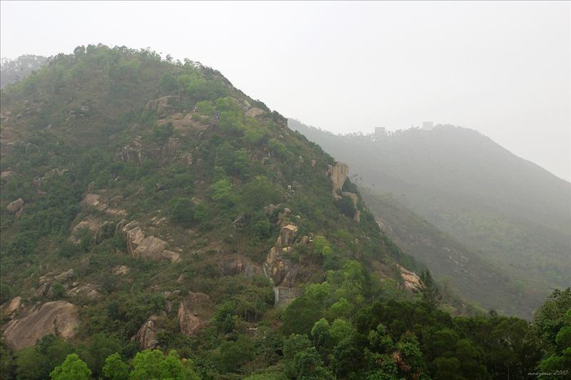前方不遠處的一道石階直通五桂山 Black Hill (Ng Kwai Shan)