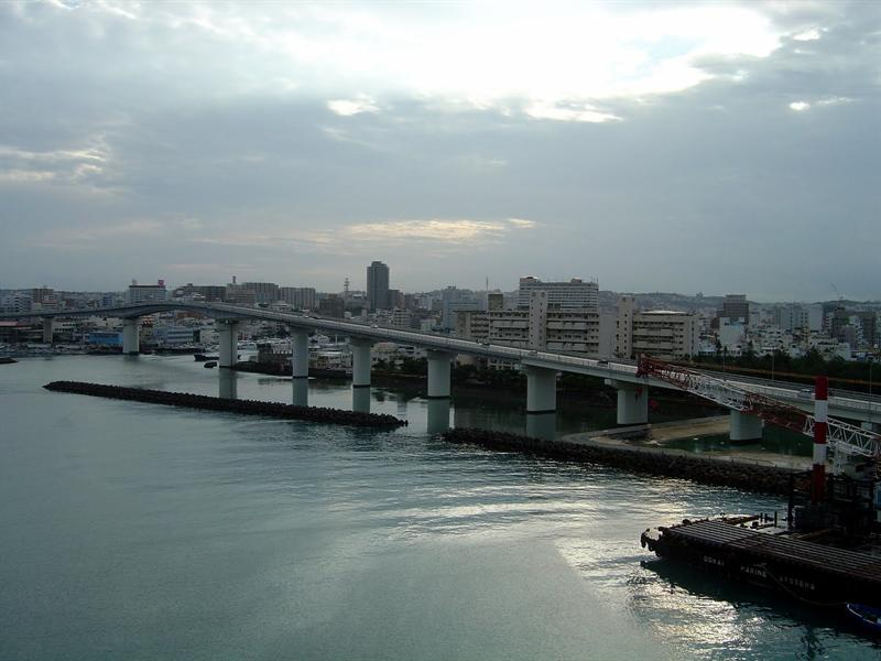 NAHA (那霸市) of OKINAWA Island (沖 繩 島 ),Japan. ----10-23-09. Humid,hot and rainy day,few people went ashore.