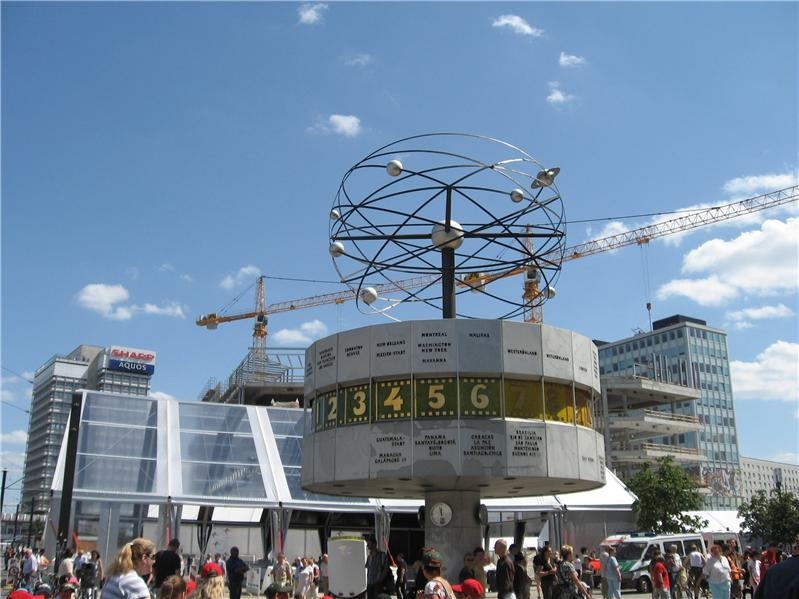 Clock showing East German's place in the world...not so much anymore.