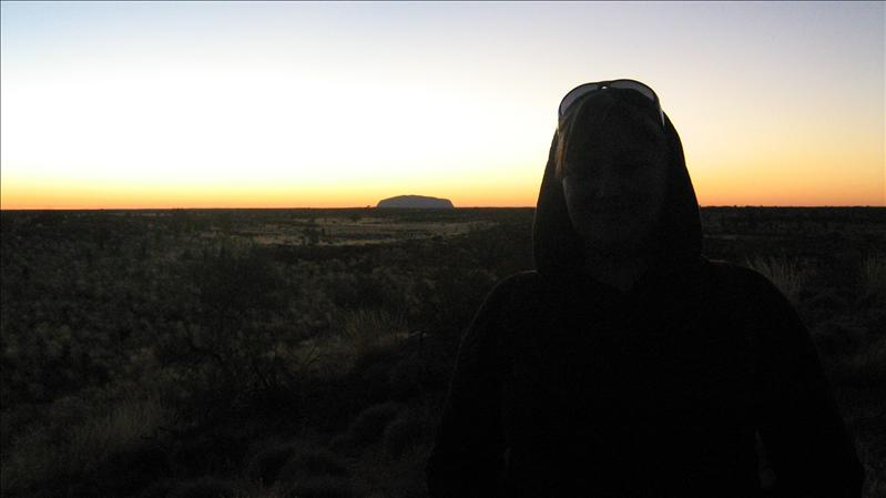 Me and Uluru at Sunrise