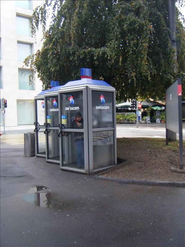 people in switzerland actually use the payphones!