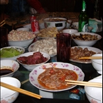 SOME of our feast at shu shu and ayi
