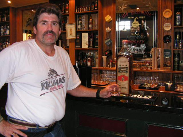 Me with a very large and expensive bottle of B'ushmills...1608 special distill