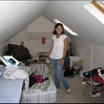 Our attic dwelling at our hosts house