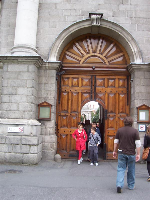 The gates of Trinity College.