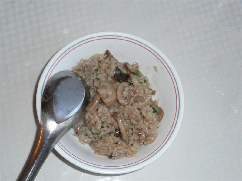 雙菇燉飯 (2010_0110_Lunch)
