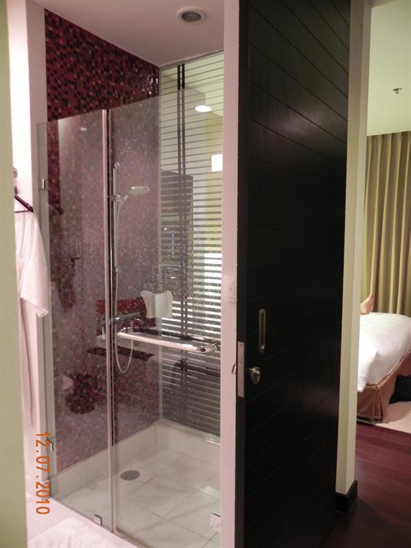 Hotel in Bangkok.  We loved this bathroom!