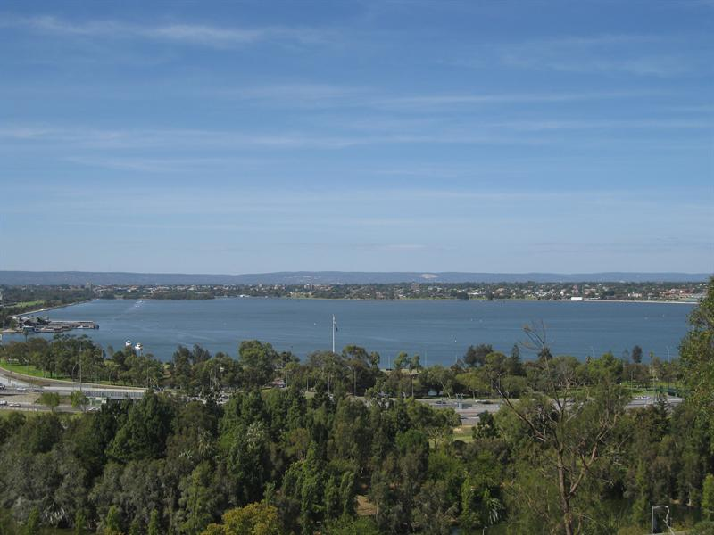 View of Swan River from King's Park