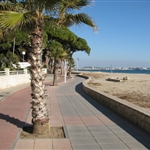 Cycle path at Salou.
