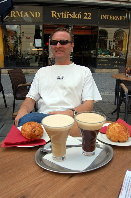 Afternoon Latte with lunch - Prague