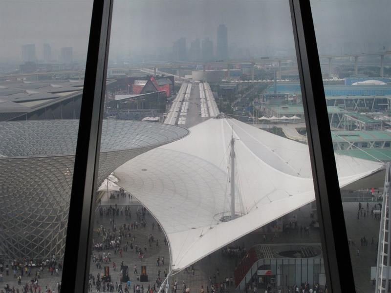 views from top floor of China Pavilion