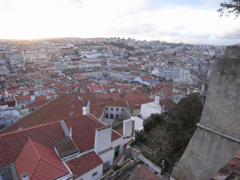 view over lisbon from castelo de sao jorge