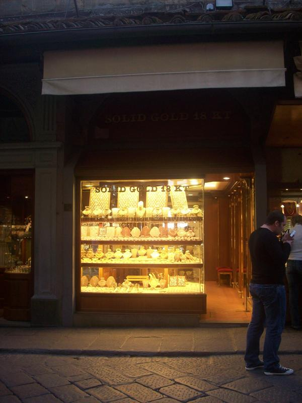 One of the jewelry shops on the bridge!