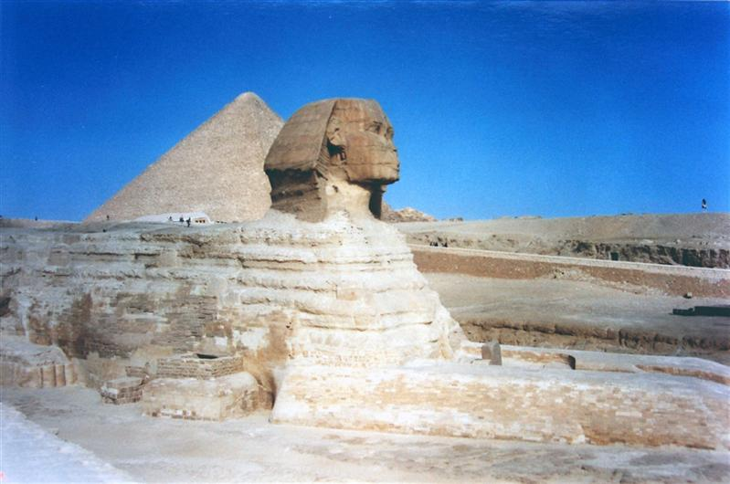 Sphinx, Great Pyramid-King hoops, Giza, Egypt
