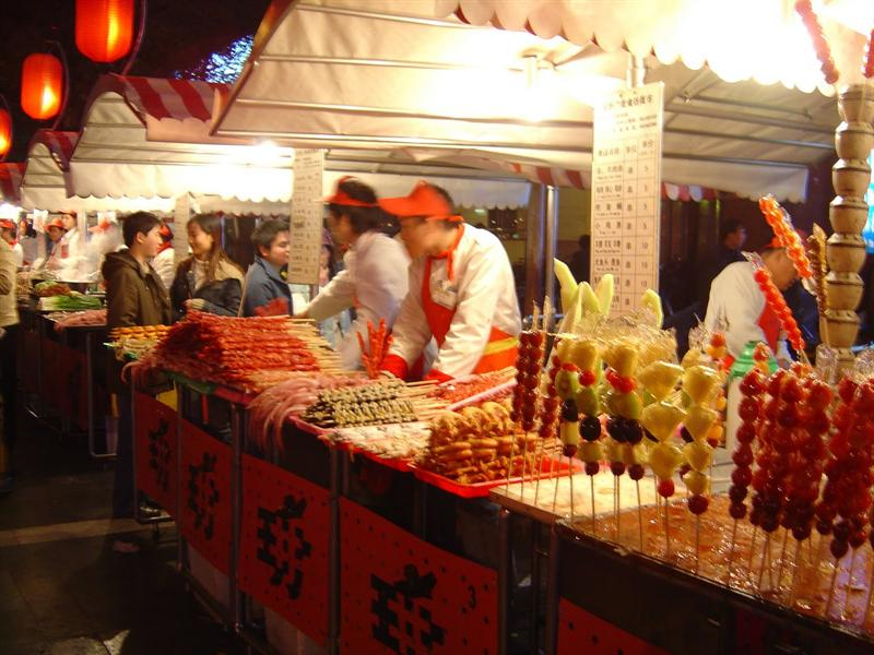 street food market at night