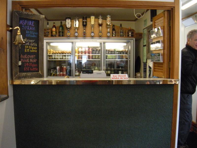 The bar on the Fjiordland Navigator