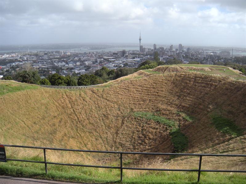 Mount Eden volcanic crater in Auckland