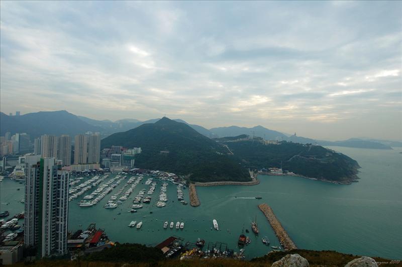 香港仔海峽、南朗山及海洋公園