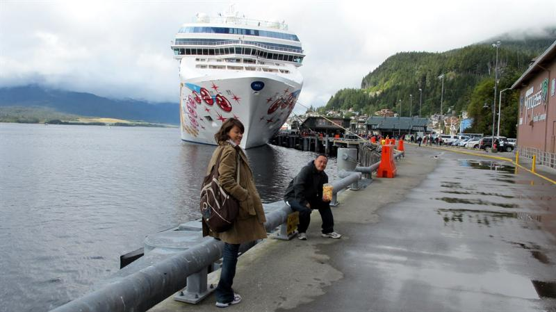 10 minutes walk to the ship from downtown of Skagway
