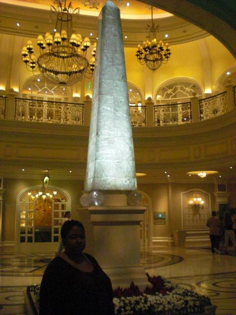 A giant crystal ph.. er.. obelisk @ Bellagio