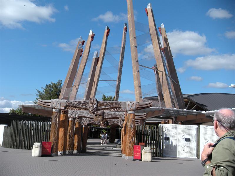 The entrance to Te Puia