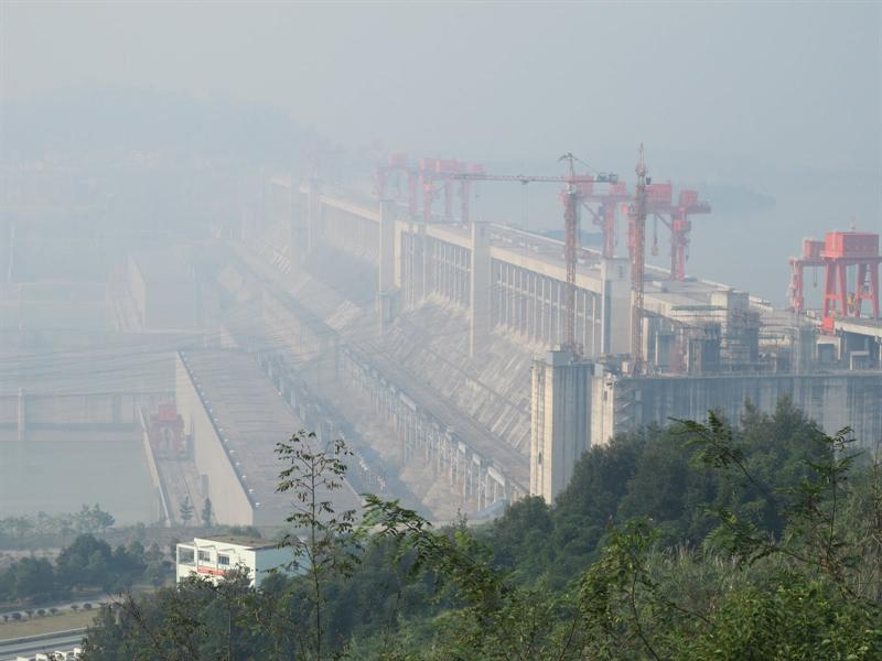 This is the world's largest hydroelectric project. It started in 1994, and began to submerge all places of historic rrelics and sites along the banks of the Yangtze River in 2006, and was completed in 2009.