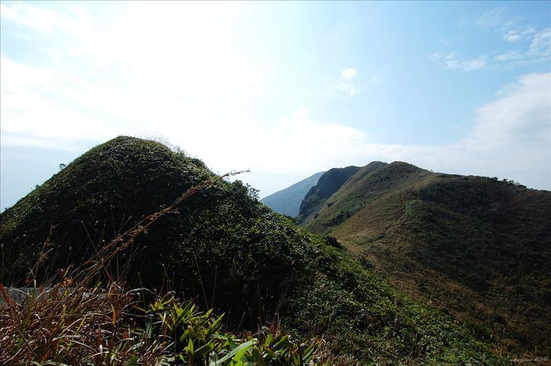 前望石芽山的主峰