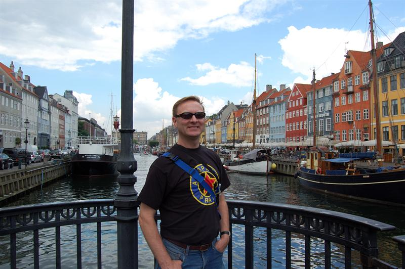 Matt along the Copenhagen harbor