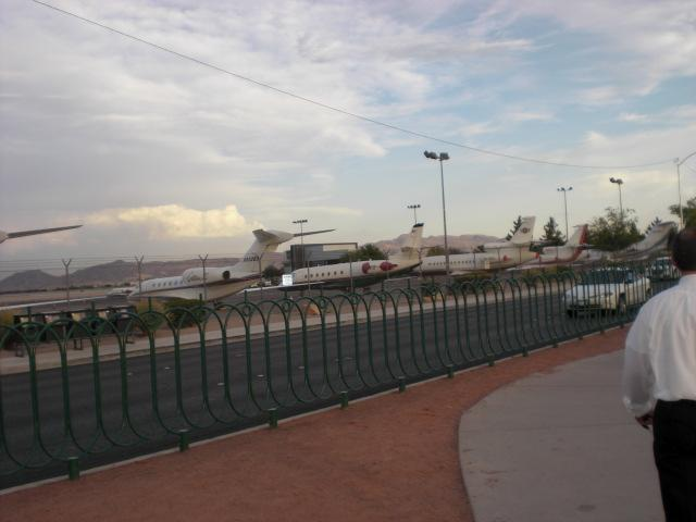 The Big Wig's airport, across from 'The Sign'