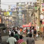 Straße in Guwahati (Assam)