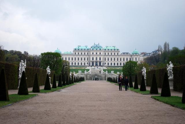 The Oberes Belvedere - Dani got to live her dream of seeing Klimt's 'The Kiss'