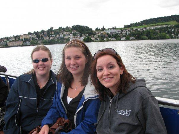 Chelsea, Me, and Melissa in Switzerland