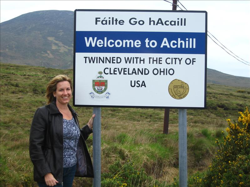 Achill: hometown of our ancestors, Cleveland:  hometown of my not-so-distant family