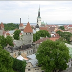Aerial view of Tallinn