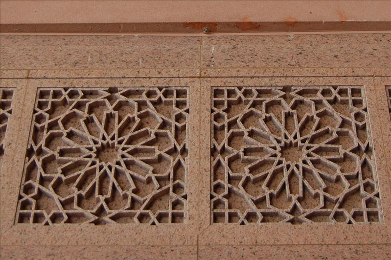 Islamic design in the wall