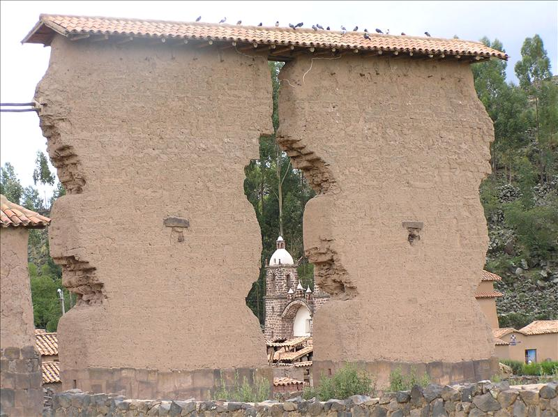 Raqchi: the temple of  Wiracocha