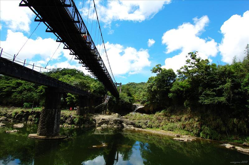 觀瀑吊橋的正下方就是眼鏡洞瀑布 Glasses Hole