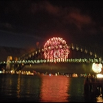 The start of the NYE fireworks - and I