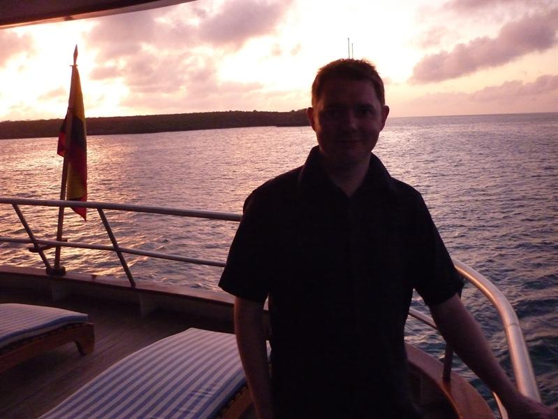 Sunset on board...